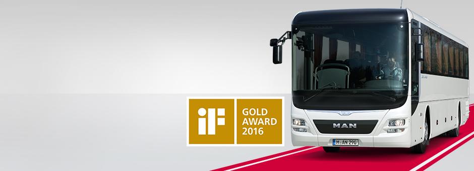 MAN Lion's Intercity wird mit dem iF gold award ausgezeichnet