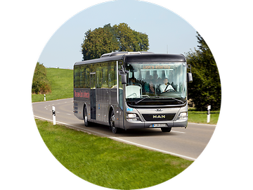 MAN Lion's Intercity— это экономическое чудо длярейсовых маршрутов итрансферных перевозок.